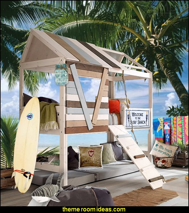 surf shack theme bed beach bedrooms Treehouse Bed