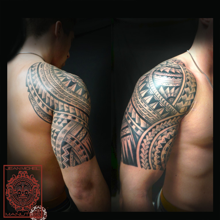 Tatouage Polynesien-polynesian Tattoo: Maori Shoulder
