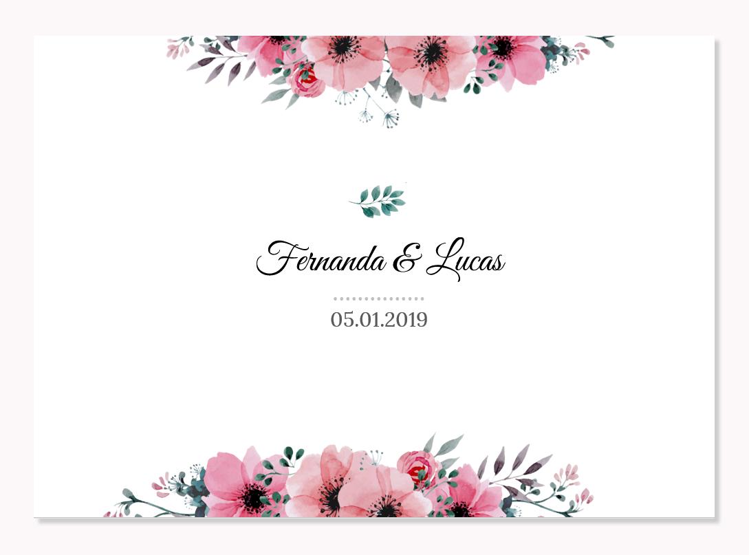 Freebie Convite De Casamento Flower Editável Mais Virtuosa Blog