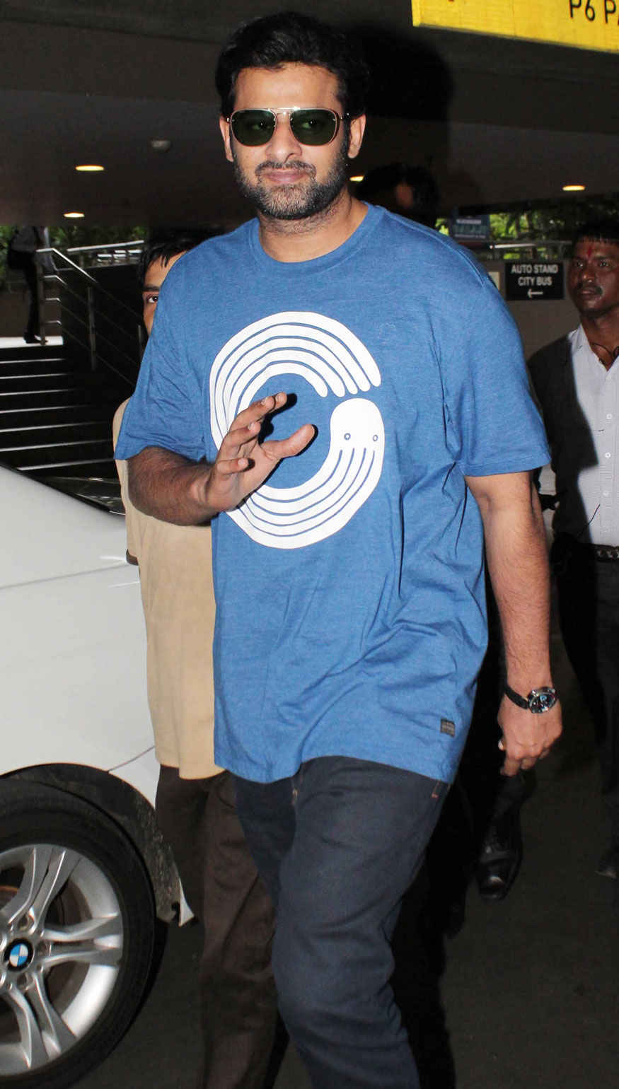 Bahubali Actor Prabhas at The Airport In Mumbai