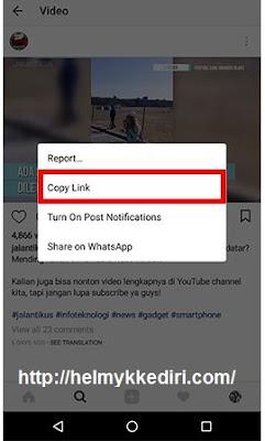 Cara download video di instagram 1