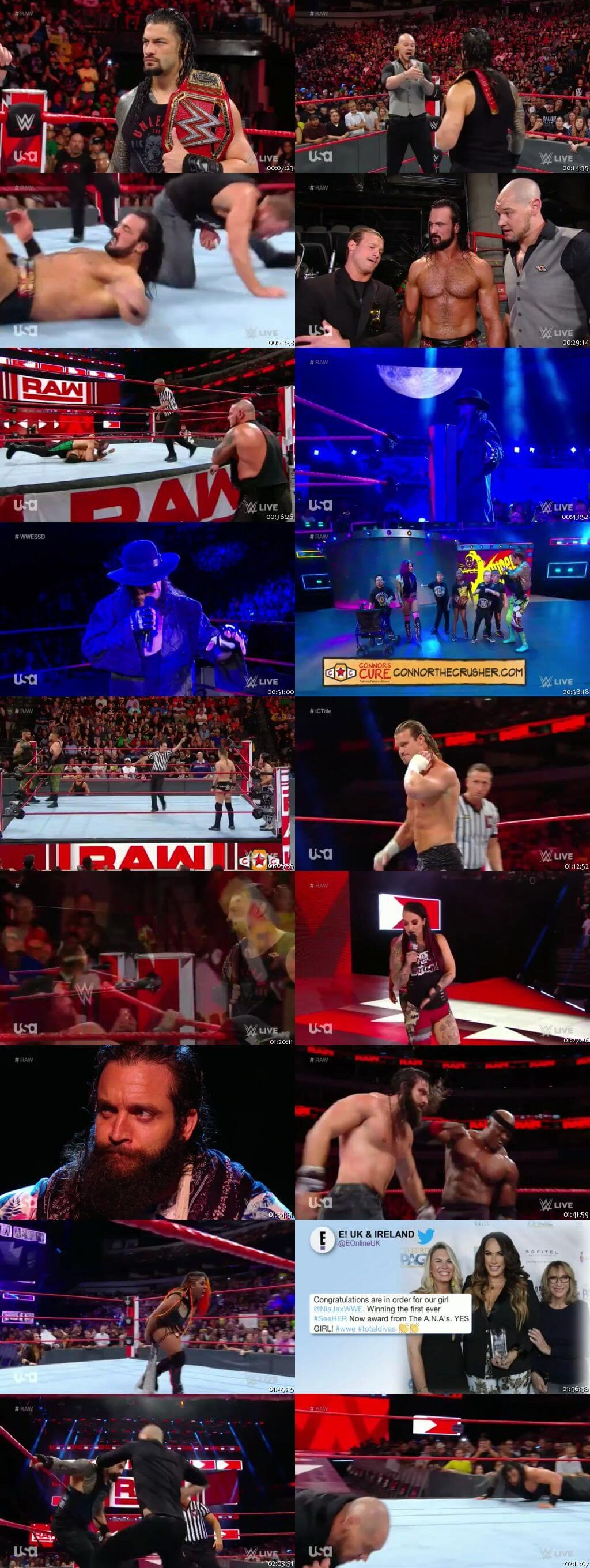Screen Shot Of Wrestling TV Show WWE Monday Night Raw 17th September Watch Online Free Download