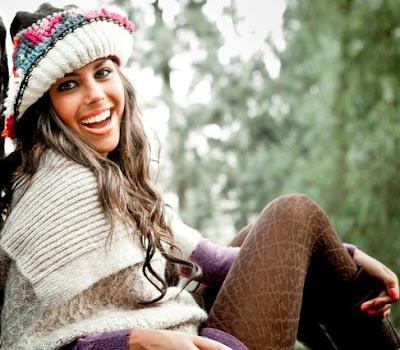 Foto de Alondra García Miró con ropa de invierno