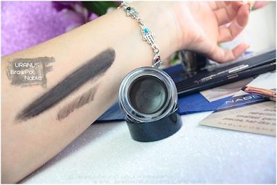 uranus swatches review brow pot nabla eyebrow