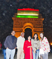 Celebrating Repubilc Day at Delhi Gate