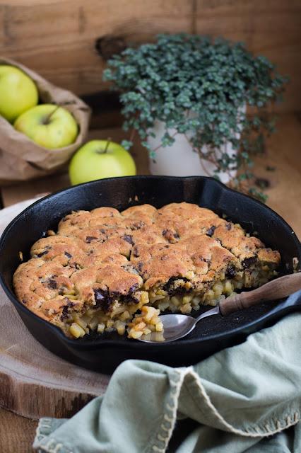 Crumble cookie aux pommes