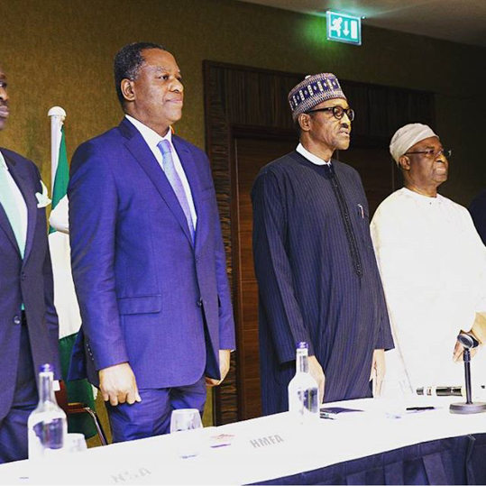 photo as buhari meets Nigerian community in london