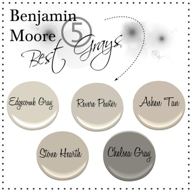 the penny parlor benjamin moore five best grays