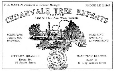 1940s print ad for Cedarvale Tree Experts