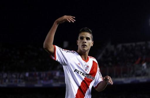 Erik Lamela has bid farewell to the River Plate fans