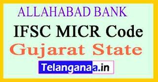 ALLAHABAD BANK IFSC MICR Code Gujarat State