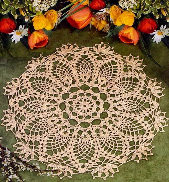 Doily - Easy Crochet Doily - Pineapple Doily