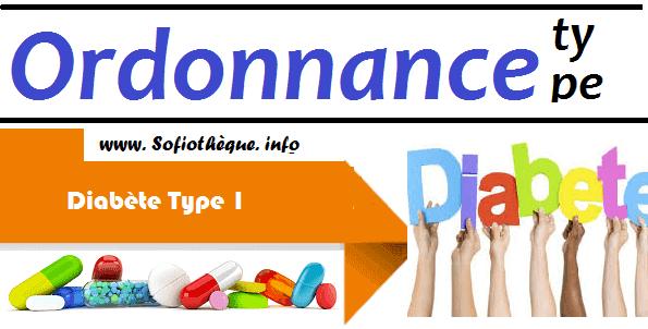 Ordonnance Type | Diabète de type 1