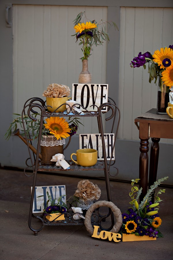 sunflower+flowers+floral+florals+yellow+autumn+fall+lace+burlap+wedding+reception+ceremony+dessert+table+celeste+and+michelle+detail+5 - Sunflower Biscotti
