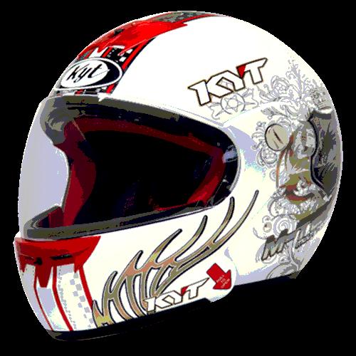 helm kyt M-Tech Dragon - White / Gold / Black (F.F)