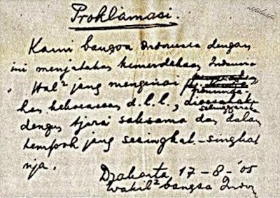 teks proklamasi kemerdekaan