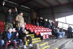 Image of Horden fans in grandstand