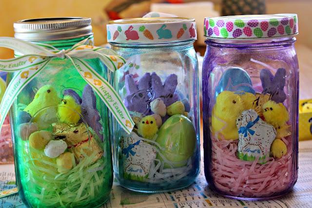 Diy mason jar easter basket habits of a modern hippie for Mason jar easter ideas