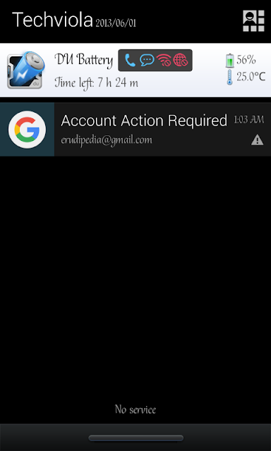 Custom text on Android Statusbar/notification bar