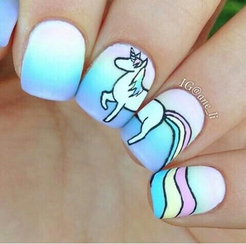 Uñas De Unicornio Mavis Glam Uñas Decoradas