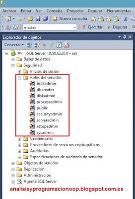 Roles fijos de servidor (SQL Server)