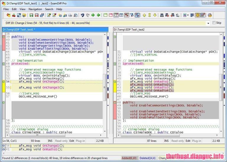 ExamDiff Pro Master Edition 10.0.1.2 Full Cr@ck – Phần mềm so sánh file và thư mục
