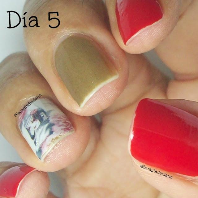 Dorado-Rojo-Calcomanias-Manicura
