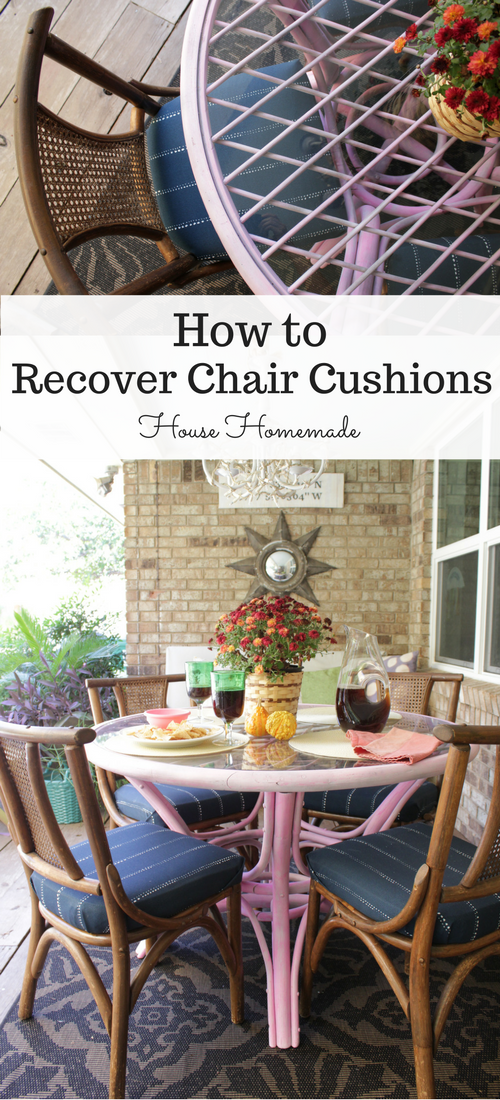 how to recover upholstered chair cushions. | House Homemade