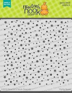 Petite Snow Stencil by Newtons Nook Designs