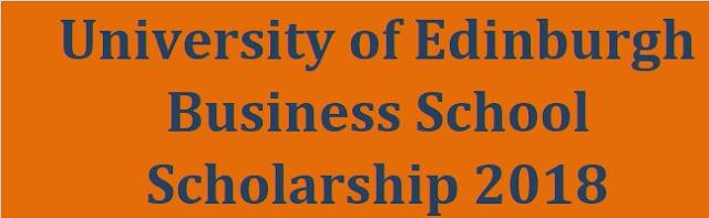 University of Edinburgh Business School Scholarship 2018