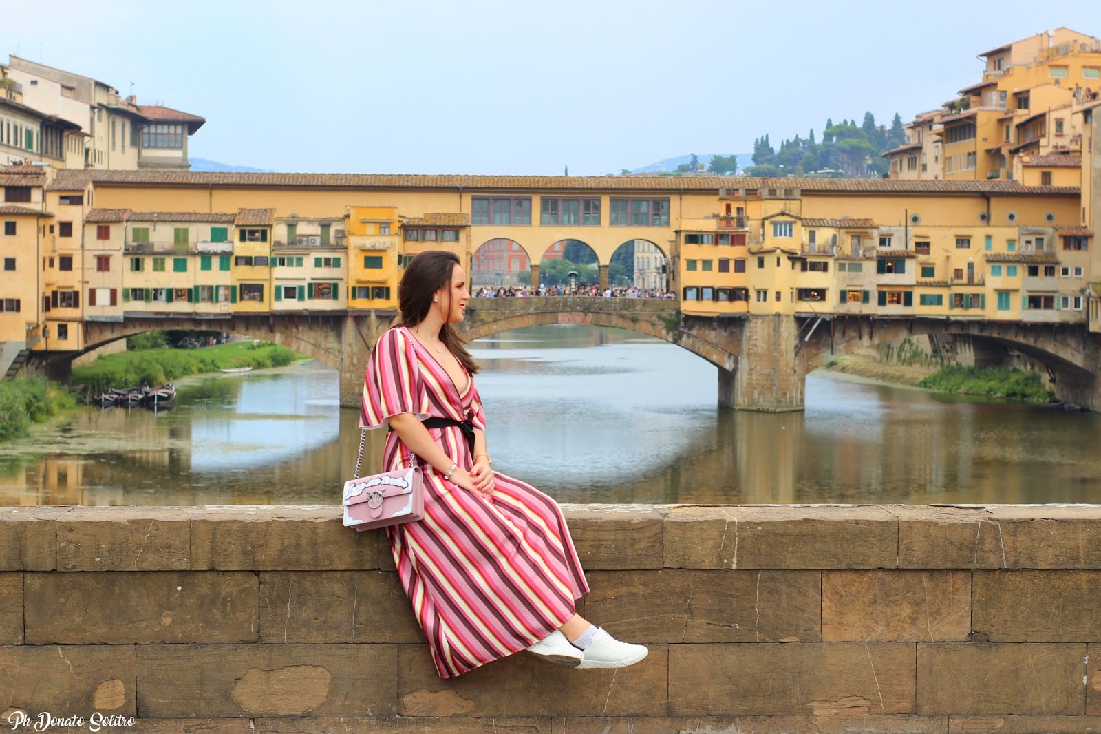 long dress a righe Firenze fashion
