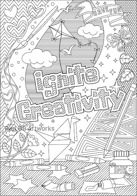 ignite creativity coloring page