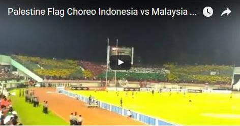 VIDEO: Beri Dukungan, Supporter Indonesia Lakukan Koreografi Berbentuk Bendera Palestina