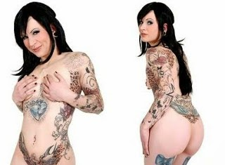 tatto trend very beautiful girl