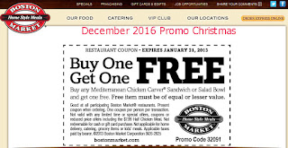 free Boston Market coupons december 2016