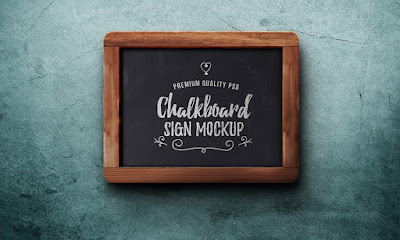 Chalkboard Sign PSD