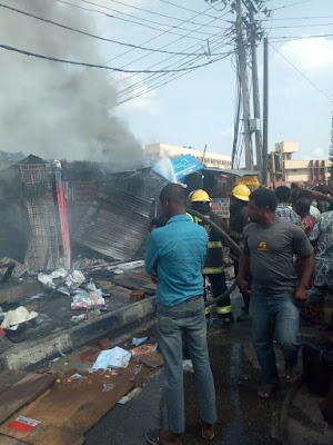 Fire Outbreak In Aguda Destroys Shops Worth Millions (Video/Photos)