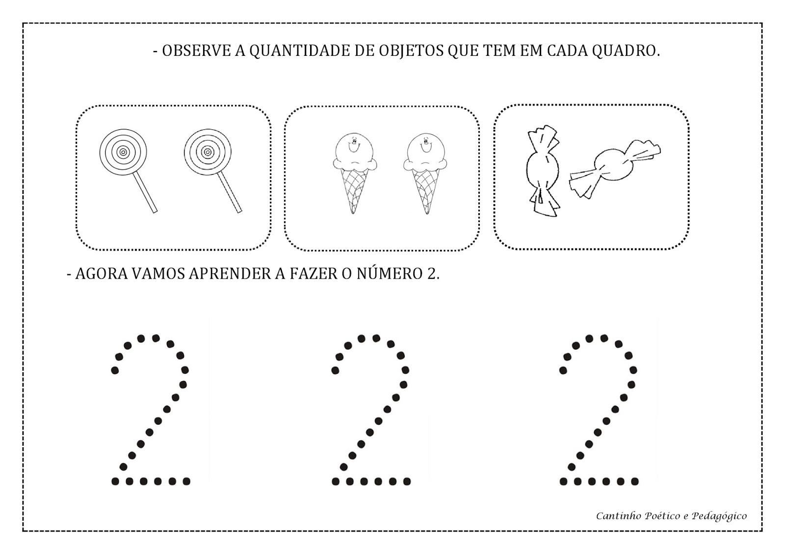 Populares Cantinho Poético e Pedagógico : ATIVIDADES COM NUMERAIS DE 1 A 5. EF43