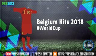 PES 2013 Belgium home kit WC Russia 2018