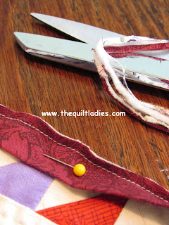 Tutorial on how to add quilt binding to a quilt.