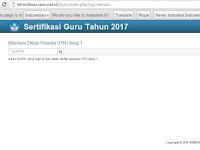Jadwal UTN Ulang  Tahun 2017