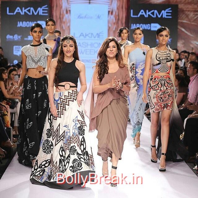 soha ali khan walked the ramp with designer babita malkani at lakme fashion week summer / resort 2015.