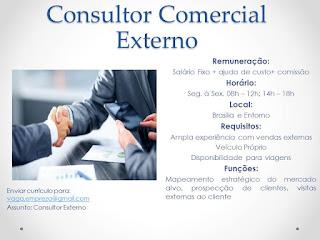 Consultor Comercial Externo