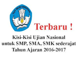 Kisi kisi ujian nasional (UN) Terbaru 2017