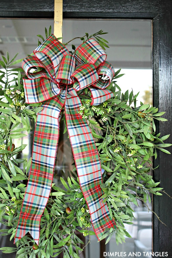 olive wreath, at home finds