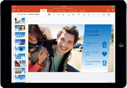 Microsoft Released Office for iPad with Word, Excel and Powerpoint