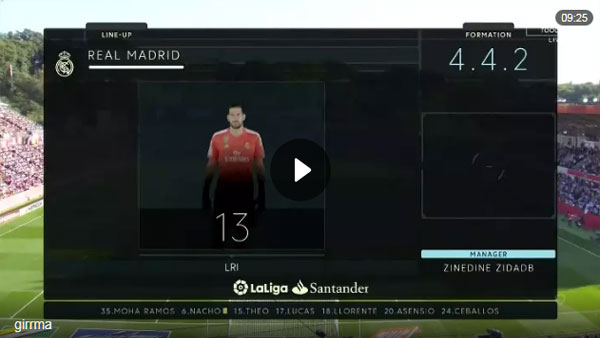 Video Girona 2 - 1 Real Madrid La Liga Vòng 10