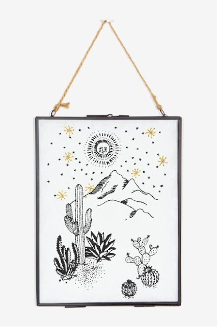 DMC Free Embroidery Patterns, mountain, cactus, moon, stars