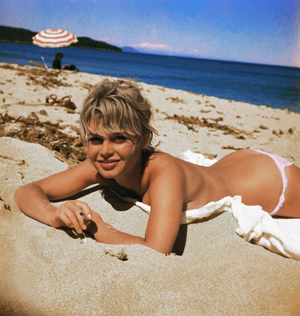 Young Brigitte Bardot on the Riviera