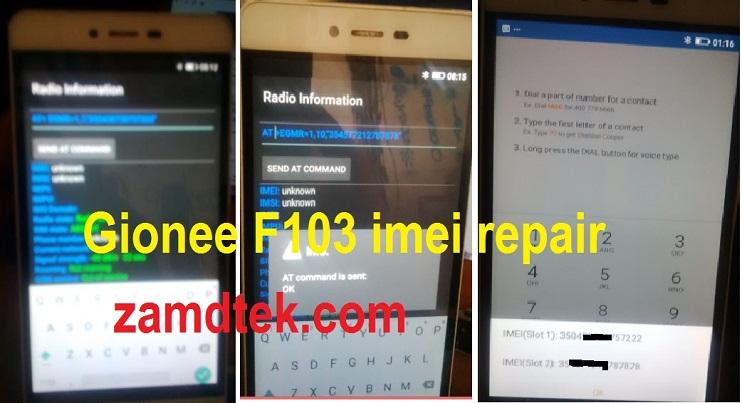Gionee F103 Pro Imei Repair